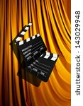 movie clapper board against... | Shutterstock . vector #143029948