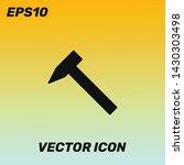 hammer vector icon illustration....