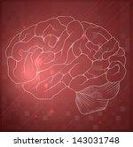 illustration of the human brain | Shutterstock .eps vector #143031748