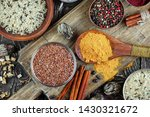spices and seasonings for... | Shutterstock . vector #1430321672