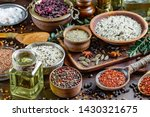 spices and seasonings for... | Shutterstock . vector #1430321675