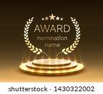 podium award in the background... | Shutterstock .eps vector #1430322002