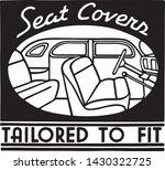 seat covers   retro ad art... | Shutterstock .eps vector #1430322725