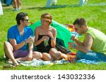 moscow   june 16  people attend ... | Shutterstock . vector #143032336