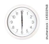 clock face showing six o'clock... | Shutterstock . vector #143033968