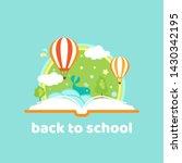 open book with air balloons ...   Shutterstock .eps vector #1430342195