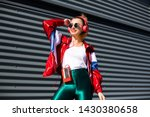 back in time 90s 80s. stylish... | Shutterstock . vector #1430380658