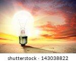 image of light bulb against... | Shutterstock . vector #143038822