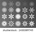 winter set of white snowflakes... | Shutterstock .eps vector #1430389745