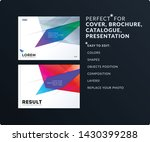 abstract design brochure in... | Shutterstock .eps vector #1430399288