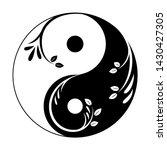 decorative yin yang symbol.... | Shutterstock .eps vector #1430427305