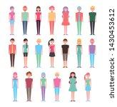 group of girls standing... | Shutterstock .eps vector #1430453612