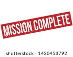 mission complete rubber stamp.... | Shutterstock .eps vector #1430453792