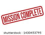 mission complete rubber stamp.... | Shutterstock .eps vector #1430453795