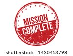 mission complete rubber stamp.... | Shutterstock .eps vector #1430453798