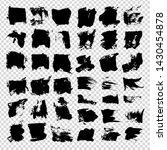 big set of black textured... | Shutterstock .eps vector #1430454878