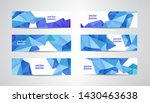 vector set of blue banners with ... | Shutterstock .eps vector #1430463638