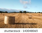 Bales Of Straw In The Wheat...