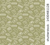 vector white fast food icons... | Shutterstock .eps vector #1430481128