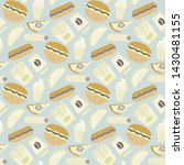vector fast food ipattern in... | Shutterstock .eps vector #1430481155