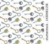 keys seamless pattern icon sign ... | Shutterstock .eps vector #1430481158