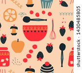 kitchen seamless pattern... | Shutterstock . vector #1430485805
