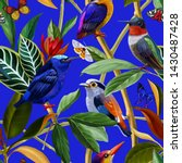 Seamless Pattern. Birds And...