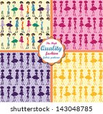 set of colorful fashion fabric... | Shutterstock .eps vector #143048785