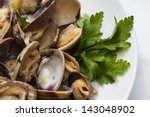 Steamed Clams In White Wine...
