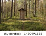 Wooden Toilet In The Forest  ...