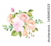 floral design bouquet wedding...   Shutterstock .eps vector #1430492525