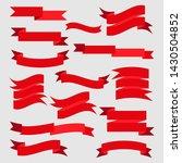 banner ribbon beautiful set... | Shutterstock . vector #1430504852