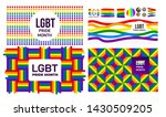 set of lgbt pride month in june.... | Shutterstock .eps vector #1430509205