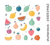 cartoon doodle cute fruits and... | Shutterstock .eps vector #1430519462