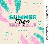 summer mega big sale banner... | Shutterstock .eps vector #1430550758