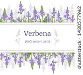 Verbena Plant Card Template...