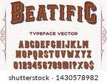 vintage font alphabet script... | Shutterstock .eps vector #1430578982