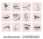 parts of female head. lips  eye ...   Shutterstock .eps vector #1430583302
