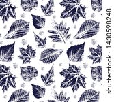 seamless pattern with imprint... | Shutterstock .eps vector #1430598248
