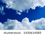 white cumulus clouds on... | Shutterstock . vector #1430614085