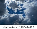 thunderstorm cumulus clouds on... | Shutterstock . vector #1430614922
