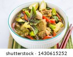 thai green chicken curry in a... | Shutterstock . vector #1430615252
