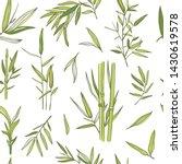 bamboo trees vector seamless... | Shutterstock .eps vector #1430619578
