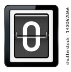 number 0 on a mechanical... | Shutterstock .eps vector #143062066
