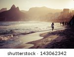 view of ipanema beach in the... | Shutterstock . vector #143062342