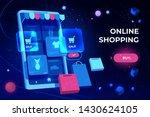 online shopping landing page ... | Shutterstock .eps vector #1430624105