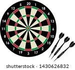 darts with dartboard . vector... | Shutterstock .eps vector #1430626832