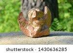 Old Terracotta Cherub On Top O...
