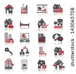 real estate icons | Shutterstock .eps vector #143065708