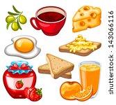 vector healthy breakfast icon... | Shutterstock .eps vector #143066116